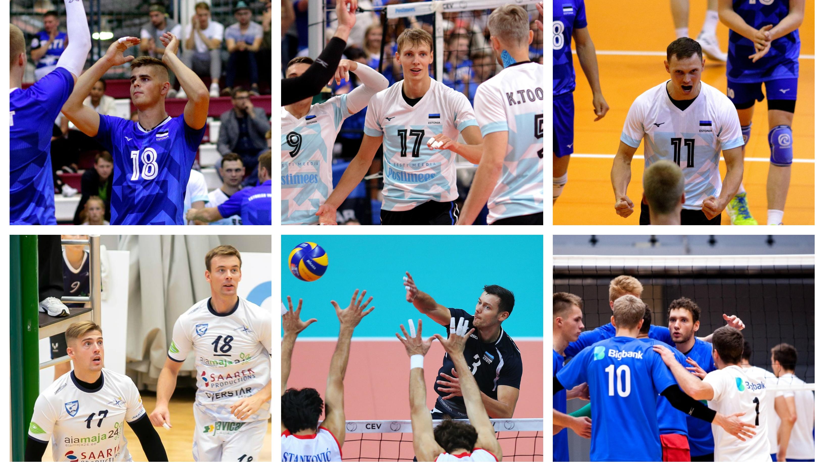 85558dce962 Vasakult ülevalt: Kevin Saar, Timo Tammemaa, Johan Vahter, Siim Ennemuist  ja Siim Põlluäär, Keith Pupart ja Hindrek Pulk. | Fotod: volley.ee; Siim  Semiskar, ...