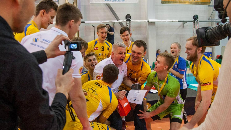 Video | Emotsionaalsed hetked: Rakvere Võrkpalliklubi Balti liiga võidust möödus kaks aastat